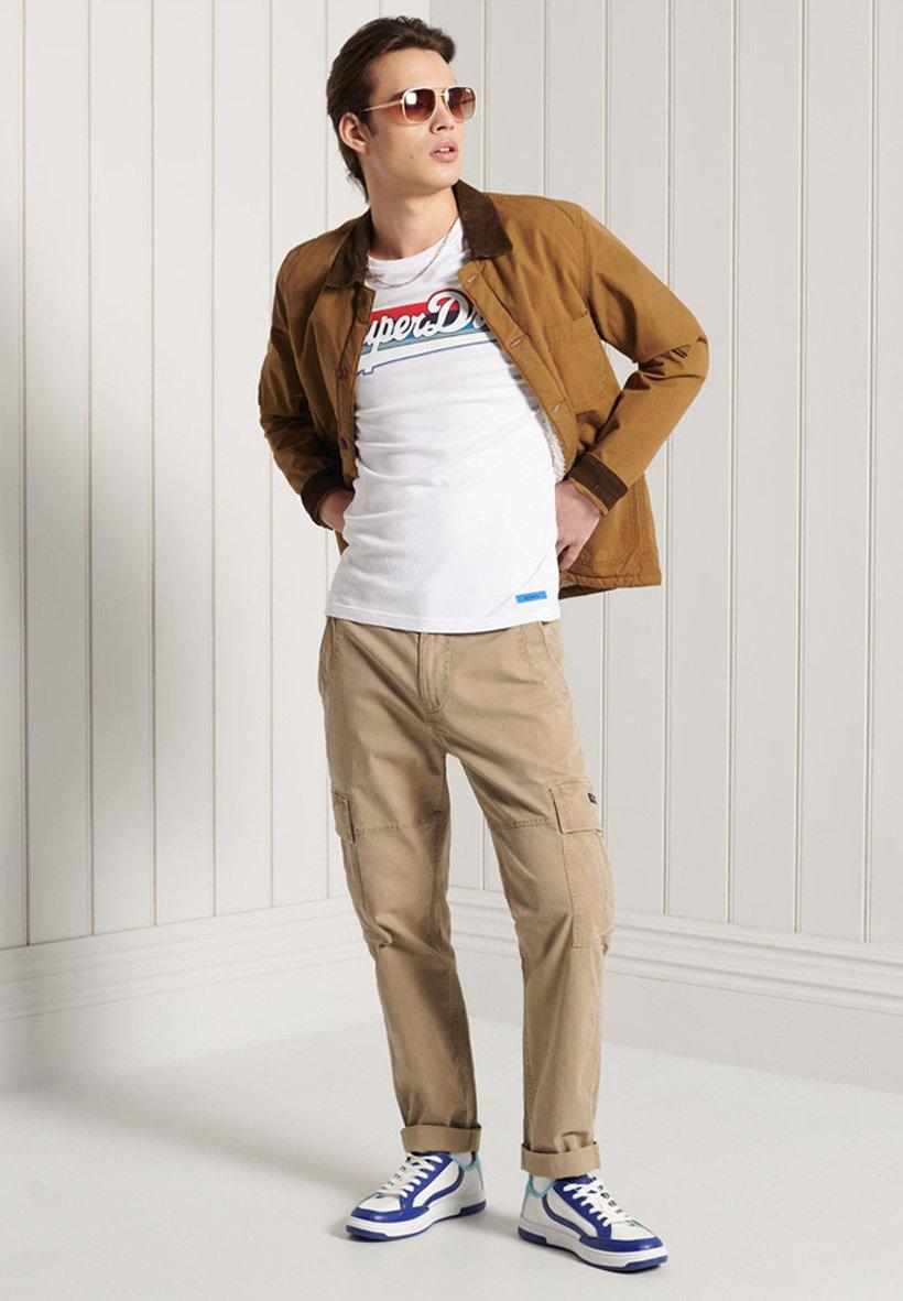 Men VINTAGE LOGO CALI - Print T-shirt - white