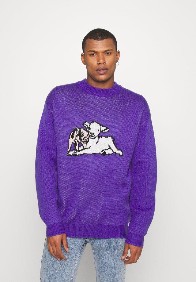 SHEEP CREW UNISEX - Strikkegenser - purple
