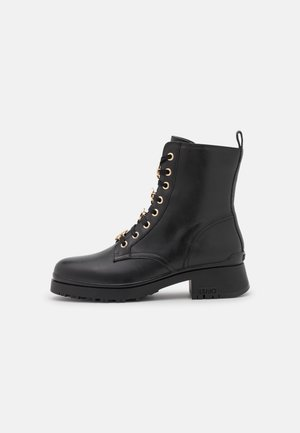NEW NANCY 39 - Lace-up ankle boots - black/grey