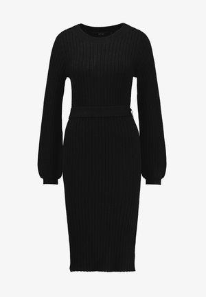 VMSVEA O NECK DRESS - Stickad klänning - black