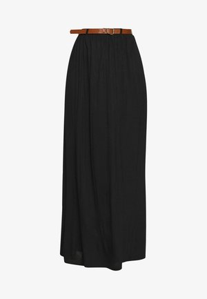 VMLINN BELT ANKLE SKIRT - Maxi skirt - black