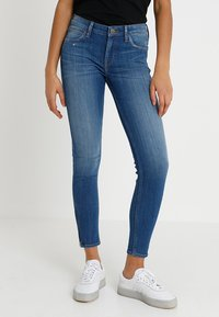 Lee - SCARLETT CROPPED - Jeansy Skinny Fit - blue denim - 0