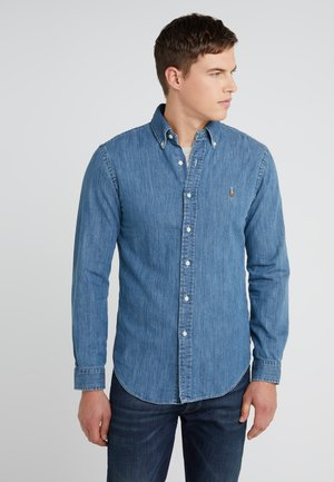 SLIM FIT - Shirt - dark wash