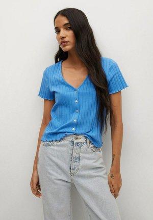 MET KNOPEN - Vest - blauw