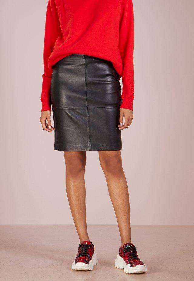 CECILIA - Pencil skirt - black