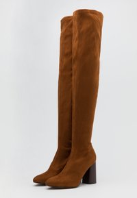ONLY SHOES - ONLBRODIE LIFE STACKED BOOT  - Kozačky nad kolena - cognac - 2