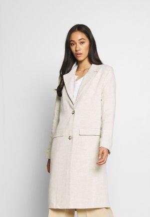 LONG LINE COAT - Manteau classique - beige