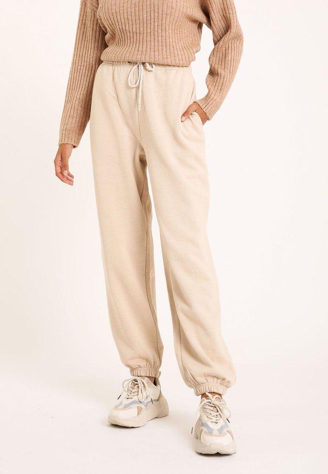 MOLTON - Spodnie treningowe - beige