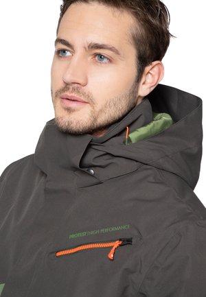 Snowboard jacket - dark green/mottled dark green