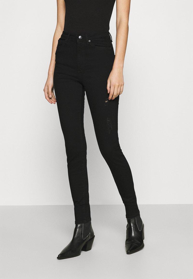 Vero Moda - VMSOPHIA SKINNY DESTROY JEANS  - Jeans Skinny Fit - black denim