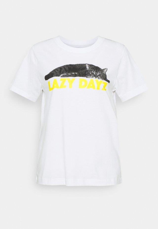 MYSEN LAZY DAYZ - T-shirt con stampa - white