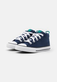 Converse - CHUCK TAYLOR ALL STAR STREET SEASONAL UNISEX - High-top trainers - midnight navy/court green/digital blue - 1