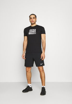 JCOZ SPORT LOGO TEE 2 PACK - Triko s potiskem - black/forest night