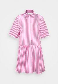 Victoria Victoria Beckham - A-LINE BROAD STRIPE SHIRT DRESS - Sukienka koszulowa - pink/white - 6