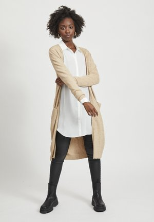 VIRIL LONG CARDIGAN  - Vest - beige