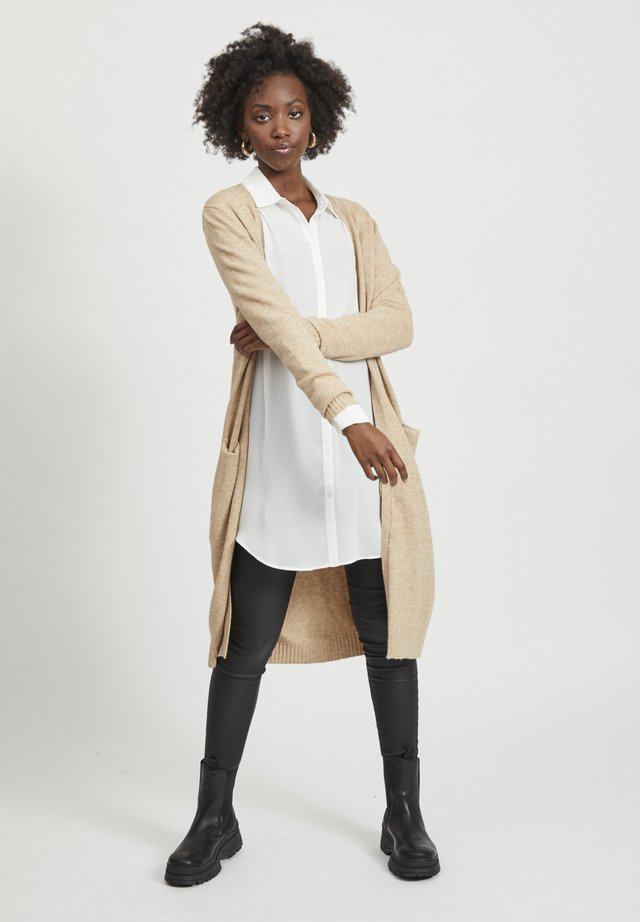 VIRIL LONG CARDIGAN  - Neuletakki - beige