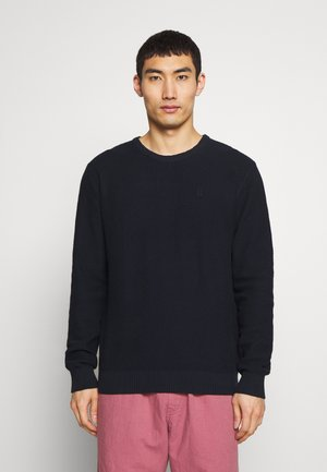 HENRI STRUCTURE - Strickpullover - dark navy