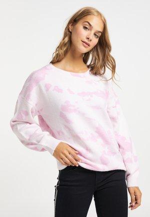 Jumper - weiß rosa