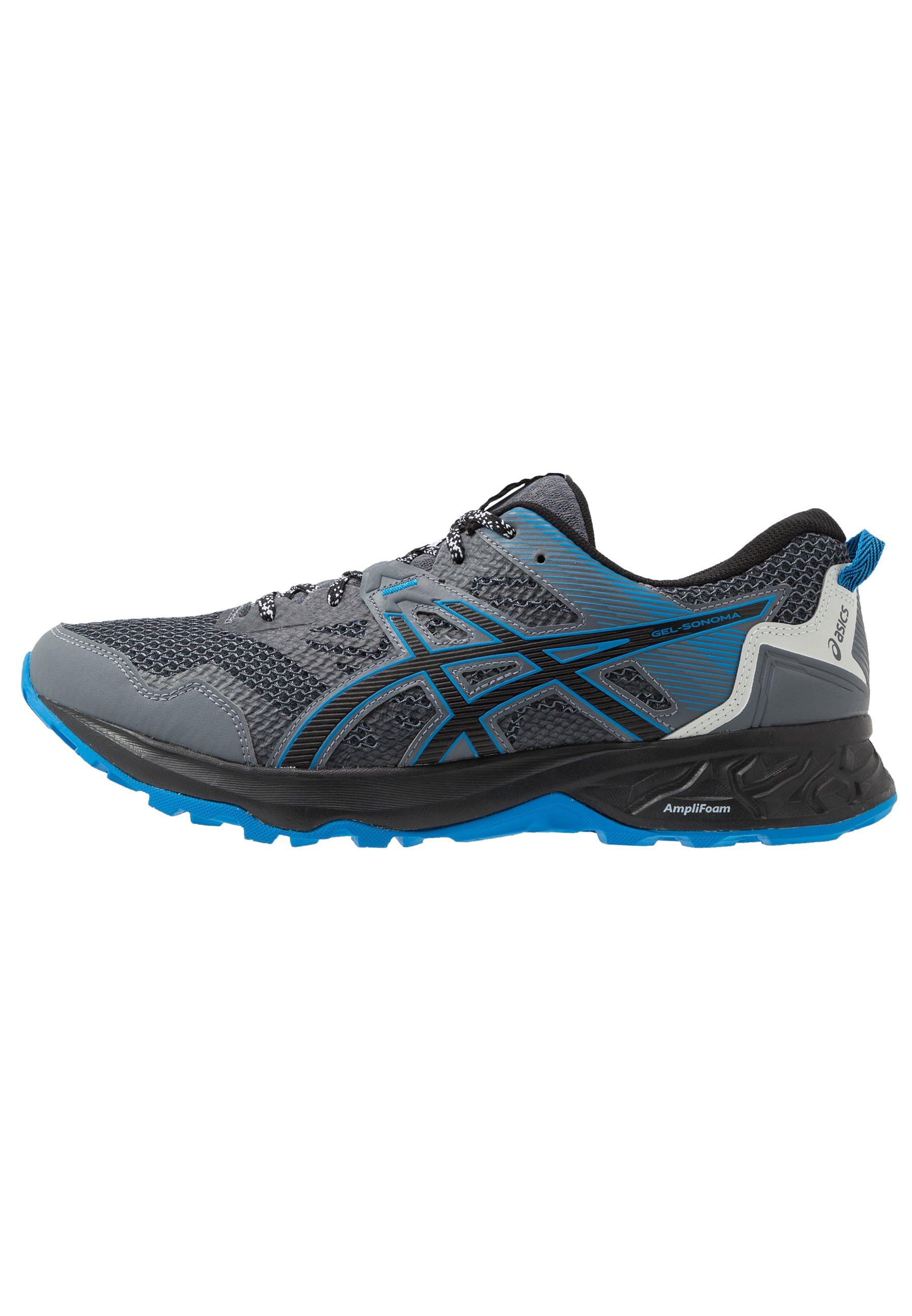 ASICS GEL-SONOMA 5 - Trail running shoes - metropolis/black/grey ...