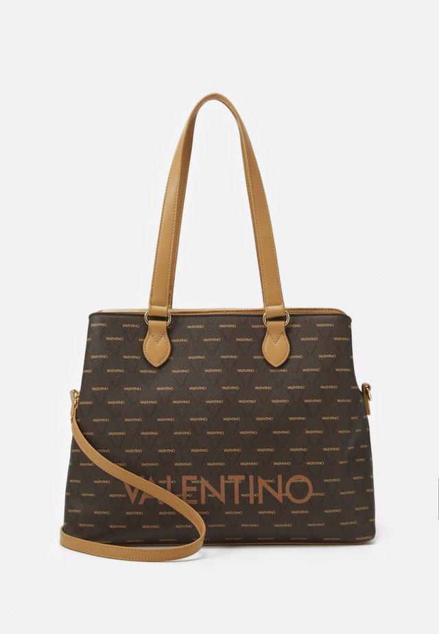 LIUTO - Shopping bag - cuoio/multicolor