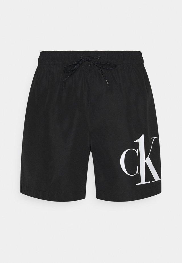 MEDIUM DRAWSTRING - Shorts da mare - black