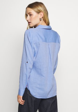 RELAXED BLOUSE SOFT TOUCH - Button-down blouse - sicilian blue