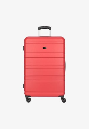 HAMBURG 4-ROLLEN TROLLEY 78 CM - Wheeled suitcase - rot