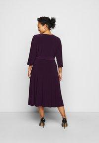 Lauren Ralph Lauren Woman - CARLYNA DAY DRESS - Jersey dress - raisin - 2