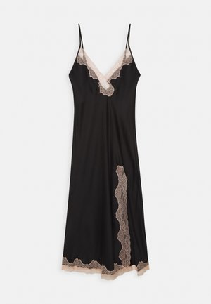 MAXI CHEMISE - Nightie - black/nude