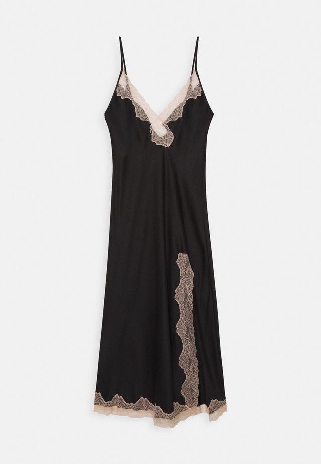 MAXI CHEMISE - Noční košile - black/nude