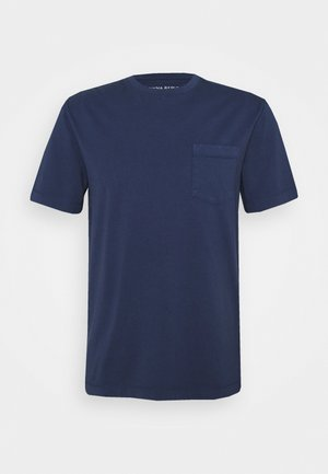 AUTHENTIC DYE POCKET CREW - T-shirt basique - washed navy
