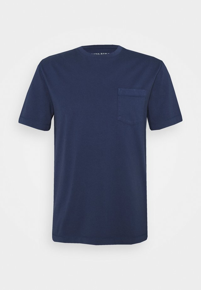 AUTHENTIC DYE POCKET CREW - T-shirt basic - washed navy