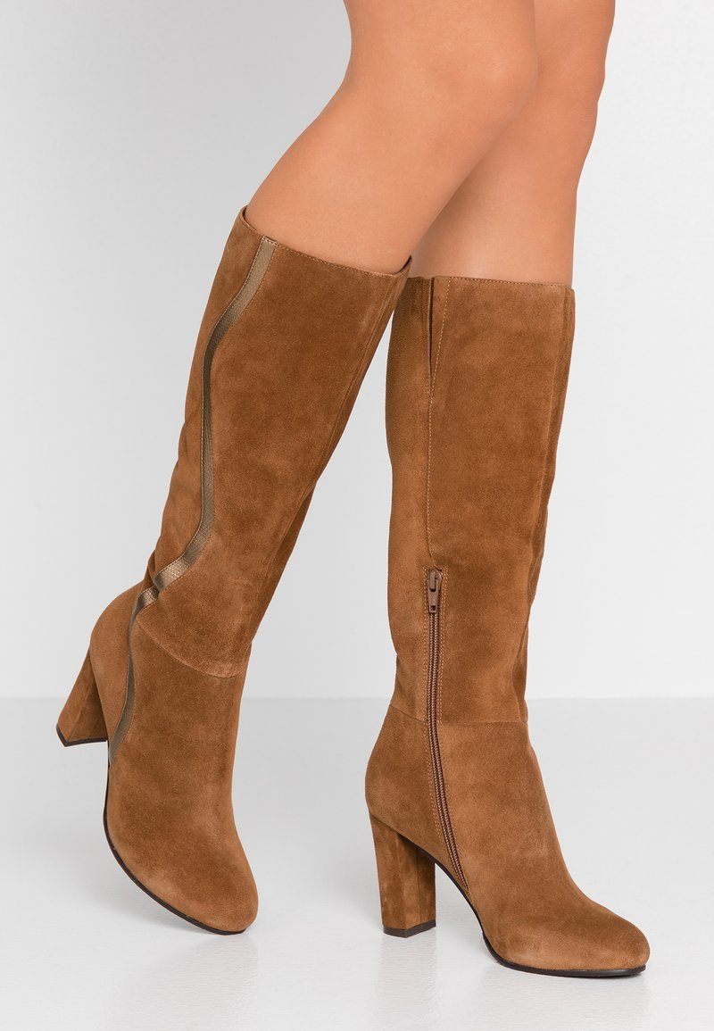 mint&berry - High heeled boots - cognac