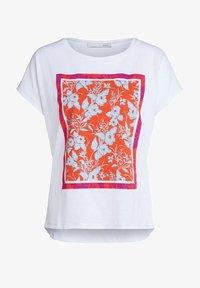 Oui - Print T-shirt - optic white - 4