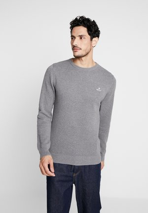 C NECK - Jumper - dark grey melange