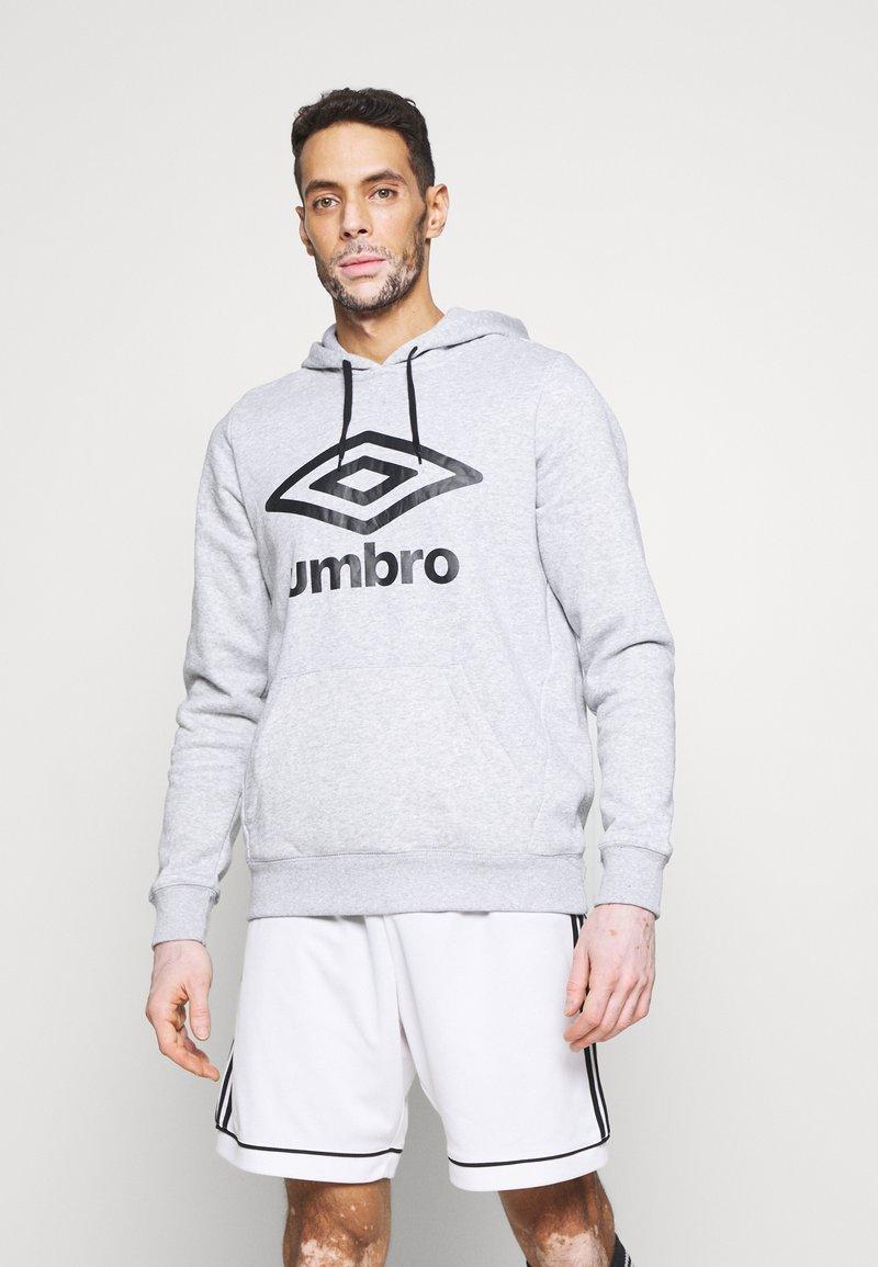 Umbro - LARGE LOGO HOODIE - Hoodie - grey marl/black