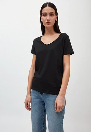 HAADIA - Basic T-shirt - black