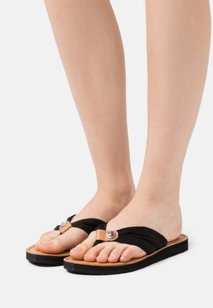 FOOTBED BEACH - T-bar sandals - black
