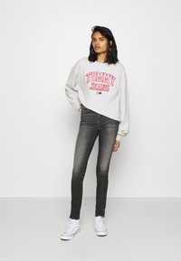 Tommy Jeans - COLLEGIATE LOGO CREW - Sweater - silver grey - 1