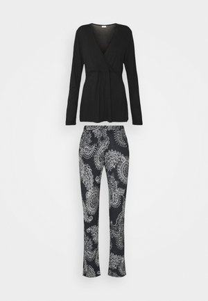 PAISLEY SET - Pyjamas - black/white