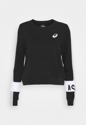 COLORBLOCK CREW - Sweatshirt - performance black/mid grey heather