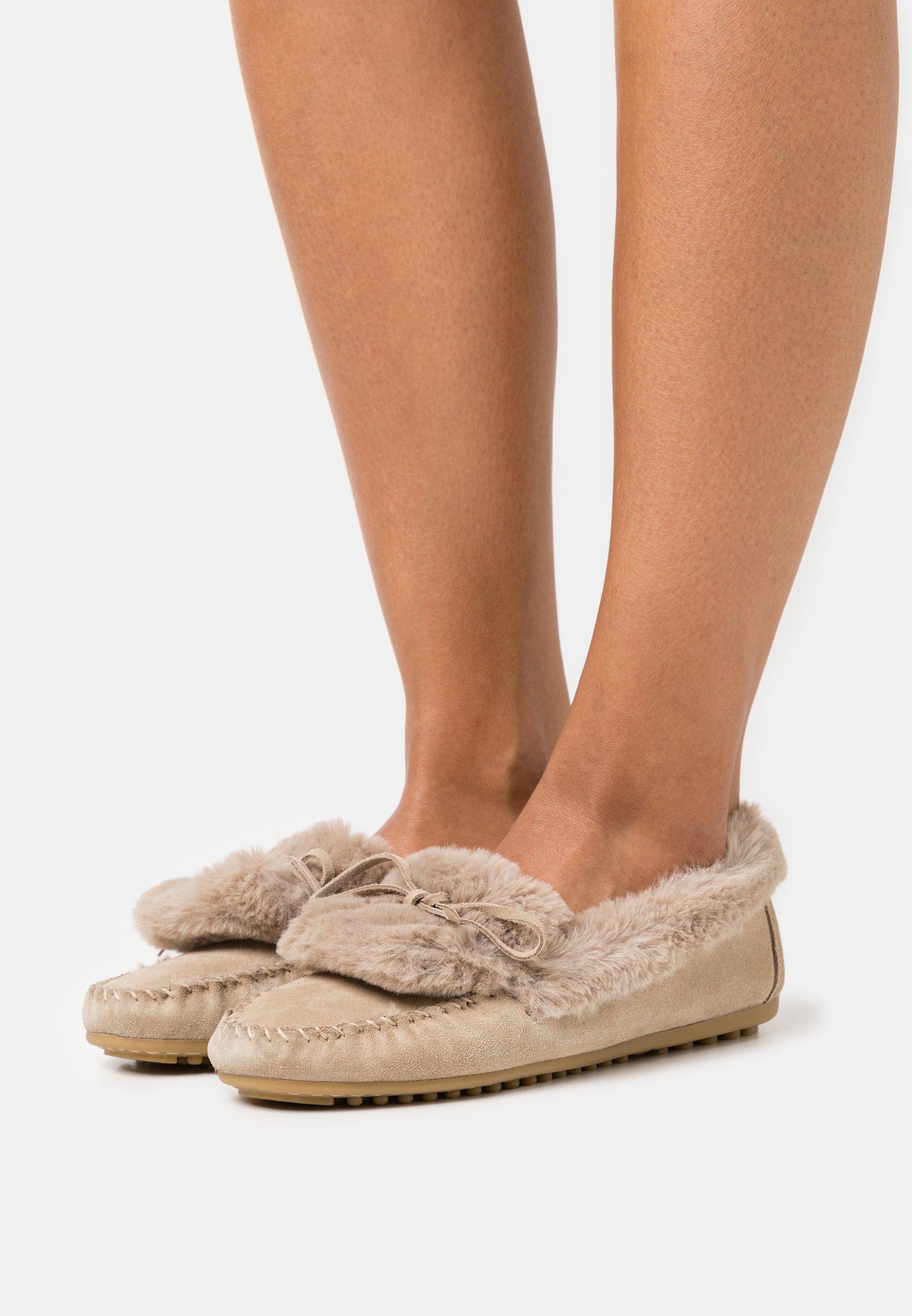 Women COMFORT LEATHER - Slippers - beige