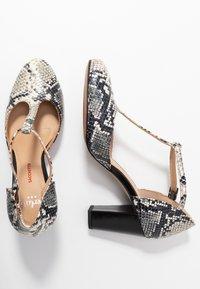 PERLATO - Classic heels - grigio/jamaica noir - 3