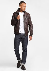 Gipsy - GBFALK  - Leather jacket - dark brown - 1