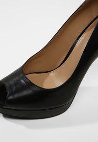 MICHAEL Michael Kors - ERIKA PLATFORM - Peeptoe heels - black - 2
