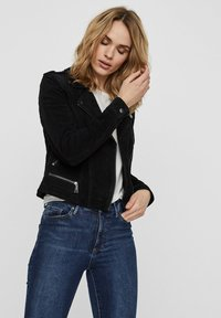 Vero Moda - Leather jacket - black - 3