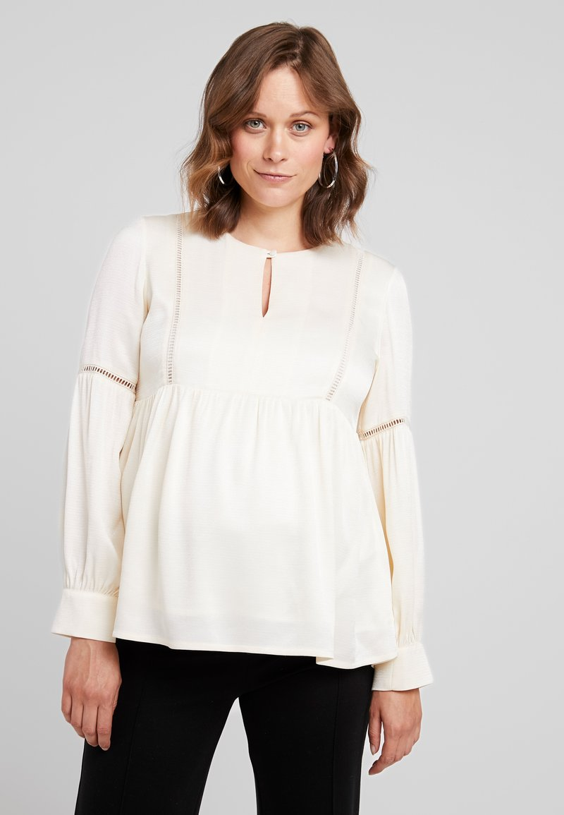 IVY & OAK Maternity - TUNIC BLOUSE - Camicetta - white