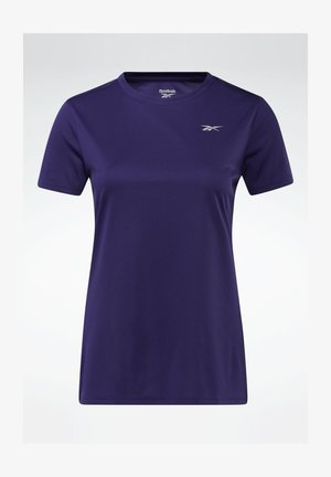 RUN ESSENTIALS T-SHIRT - Print T-shirt - purple