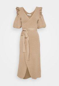 Never Fully Dressed - COLD SHOULDER DRESS - Jumper dress - camel - 0