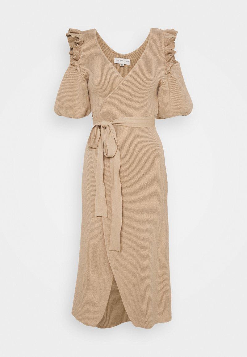 Never Fully Dressed - COLD SHOULDER DRESS - Jumper dress - camel